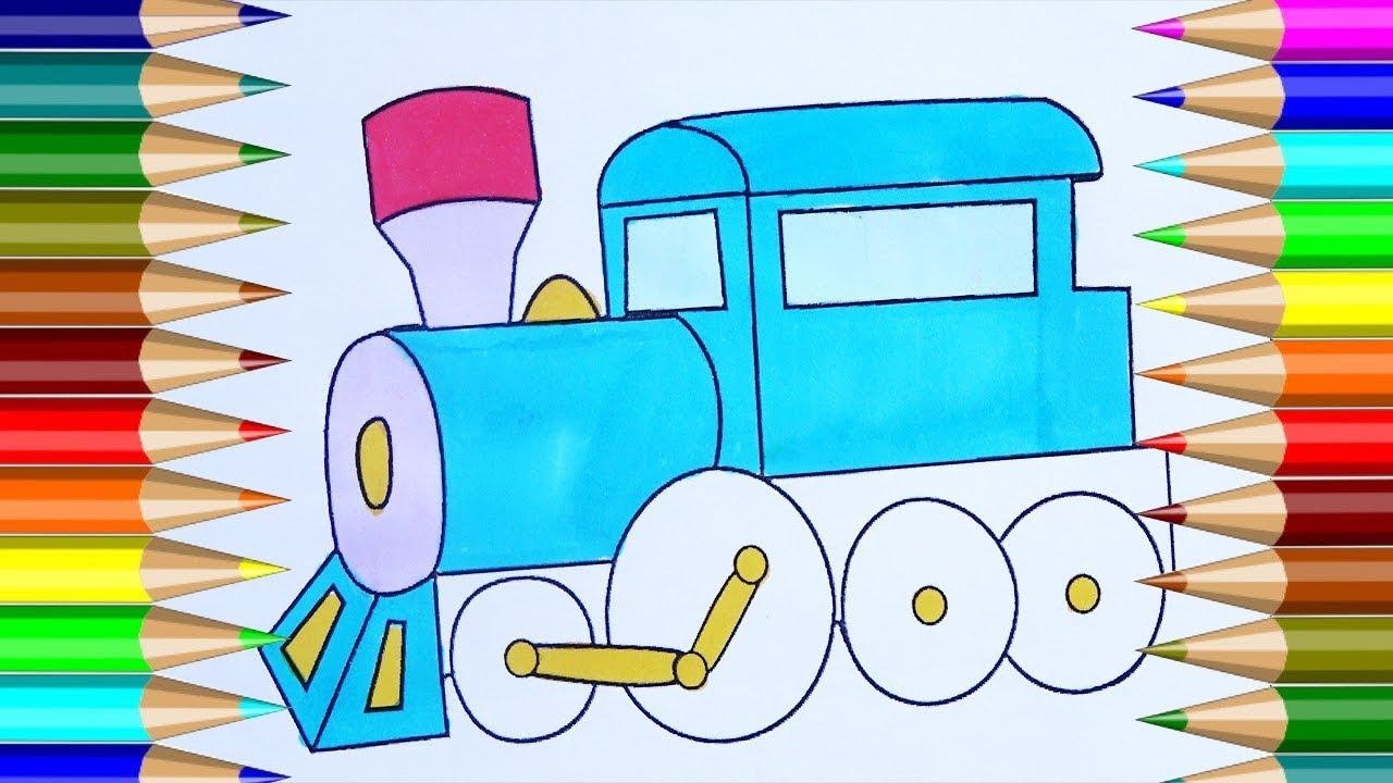 Trenes de juguete para colorear | Cómo dibujar un juguete Trenes ...