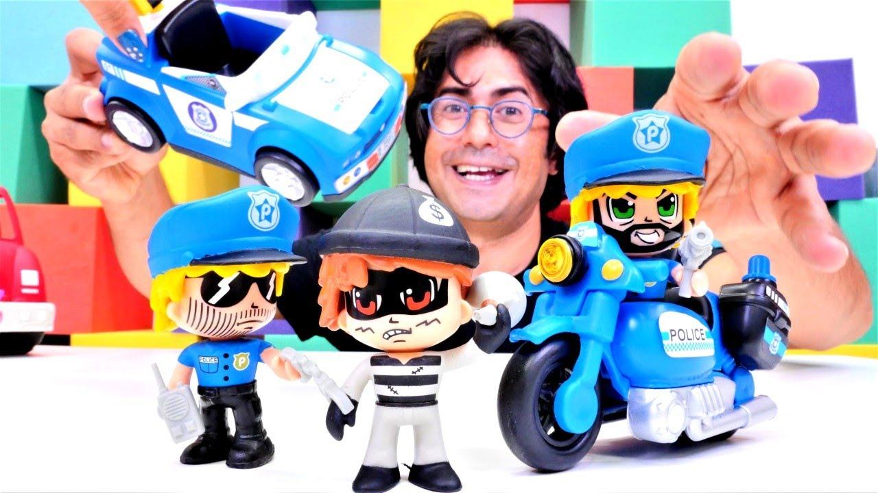 Lego oyuncakları. Polis oyunu. Polisler için yeni araba ve motosiklet açıyoruz!