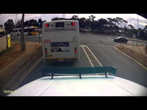 Bus changes red light runner's mind