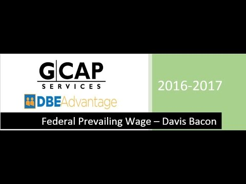 federal prevailing wage davis bacon youtube