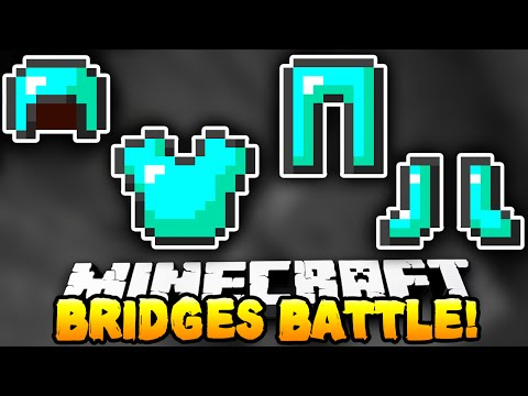 "Minecraft - BRIDGES BATTLE ""FULL DIAMOND!"" #1 - w/ Preston & Woofless!"