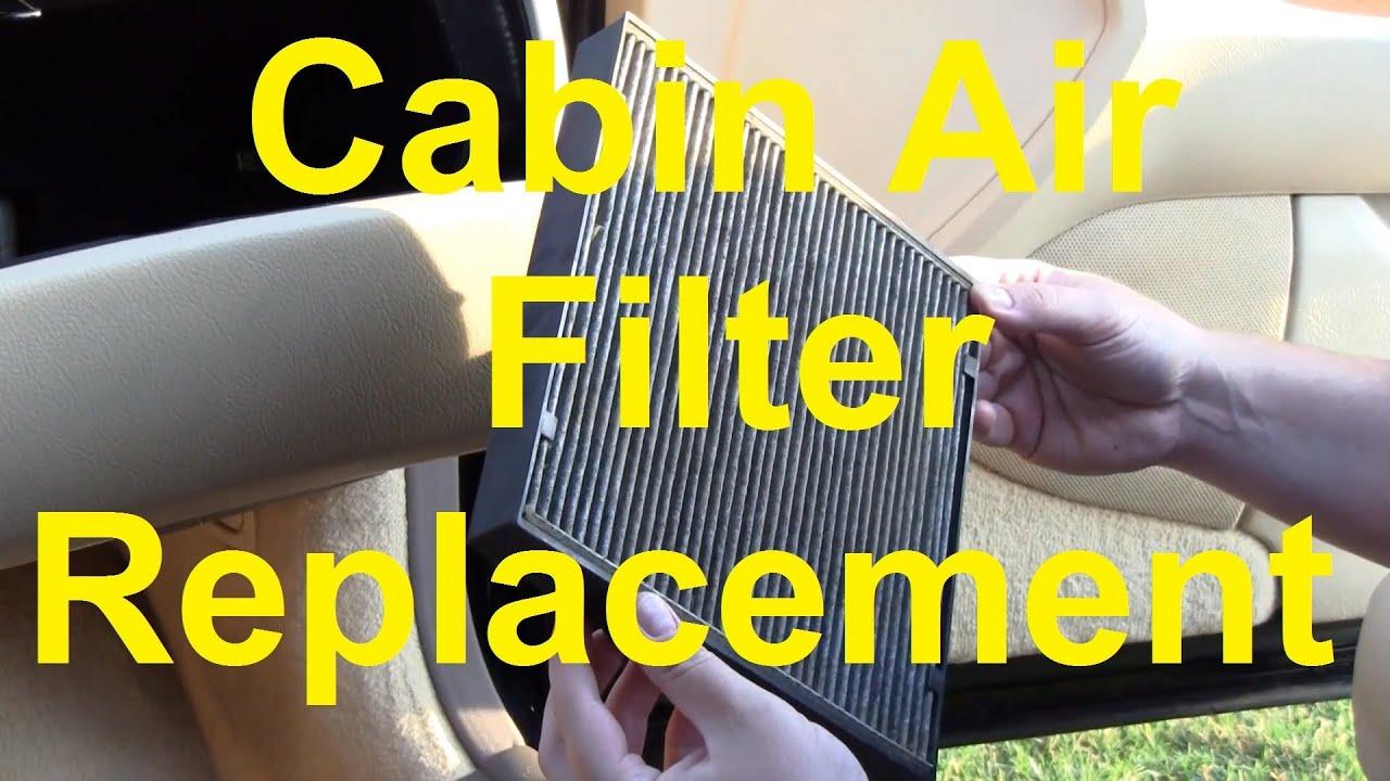 Change Air Filter >> How To Change The Cabin Air Filter In Your Car - YouTube