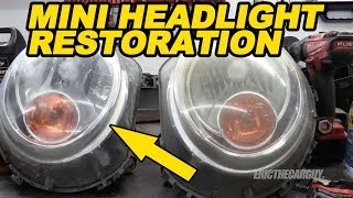 Mini Cooper Headlight Restoration