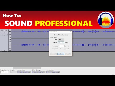 How To: Sound More Professional Using Audacity