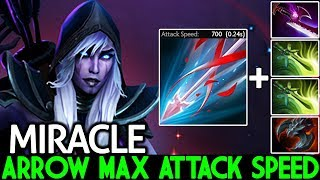 Miracle- [Drow Ranger] Arrow Max Attack Speed is Nightmare Hard Game 7.21 Dota 2
