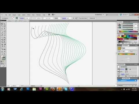 how to draw a line circle adobe illustartor