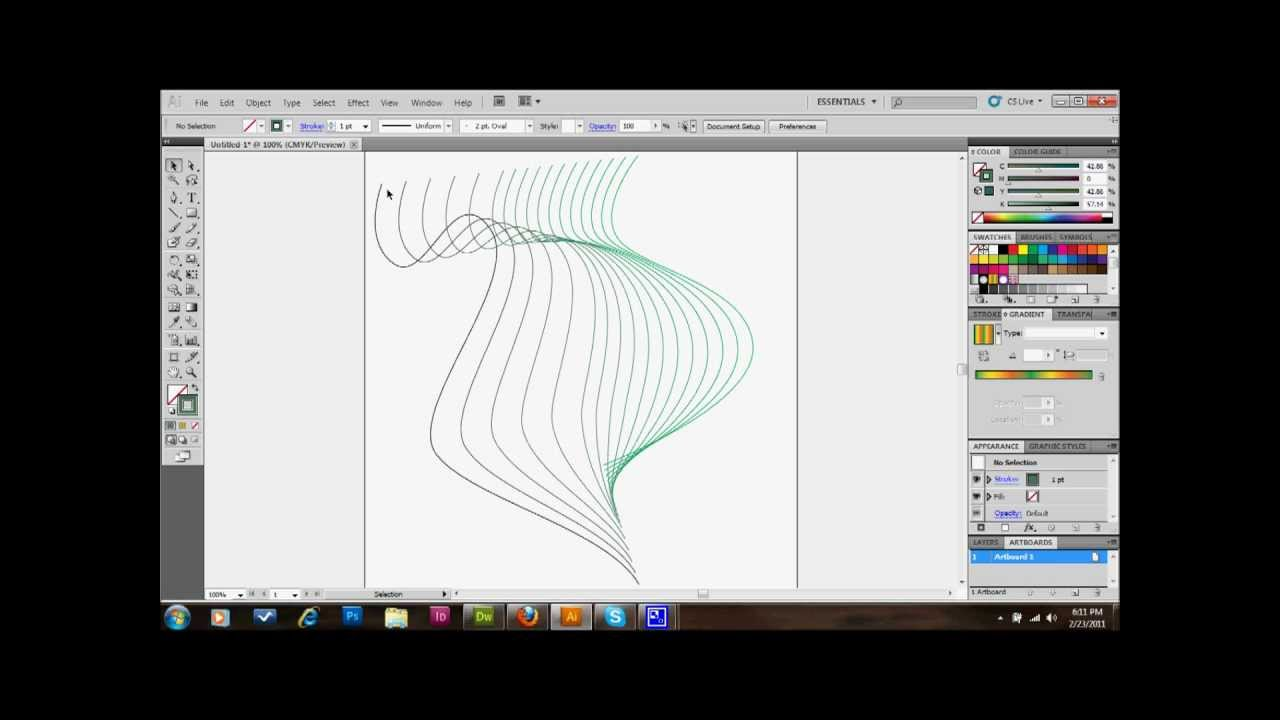 Graphic Lines Pattern Adobe Illustrator Tutorial