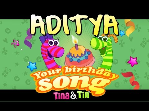 Tina & Tin Happy Birthday ADITYA (Personalized Songs For Kids) #PersonalizedSongs