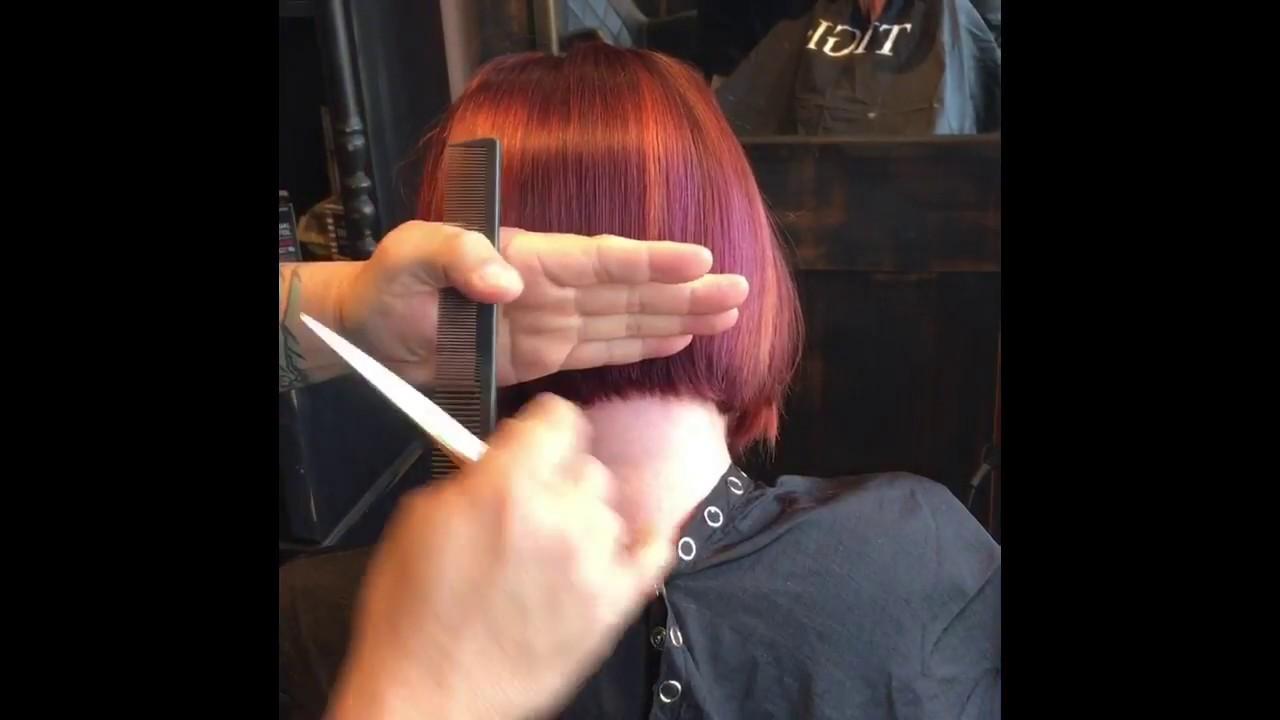 Bob haircut tutorial- - YouTube