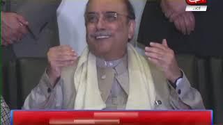 Tahir-ul-Qadri, Zardari Addressing Press Conference in Lahore