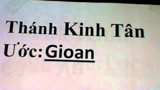 Tân Ước sách: Gioan / New Testament  book of  John October 10, 2012  7:54 PM