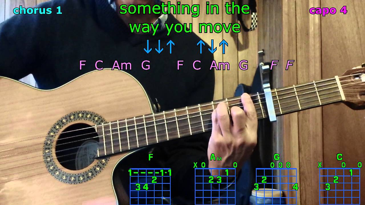 Something In The Way You Move Ellie Goulding Guitar Chords Youtube