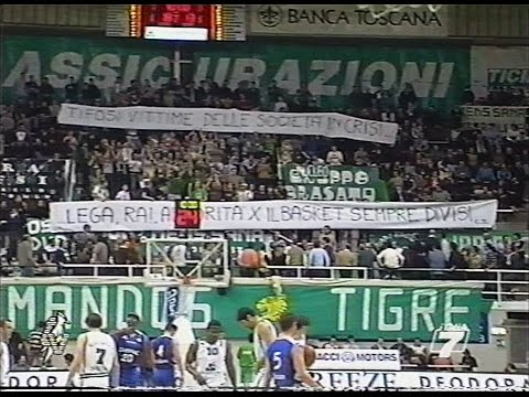 Serie A 2002/'03 Montepaschi Siena - Fabriano Basket 96-74