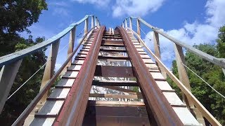 Riding Screamin' Eagle Roller Coaster at Six Flags St Louis!  Front Seat POV!