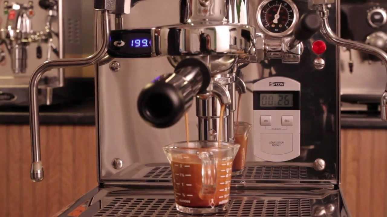 Brew A Shot Of Espresso On The Expobar Brewtus Iv Espresso Machine