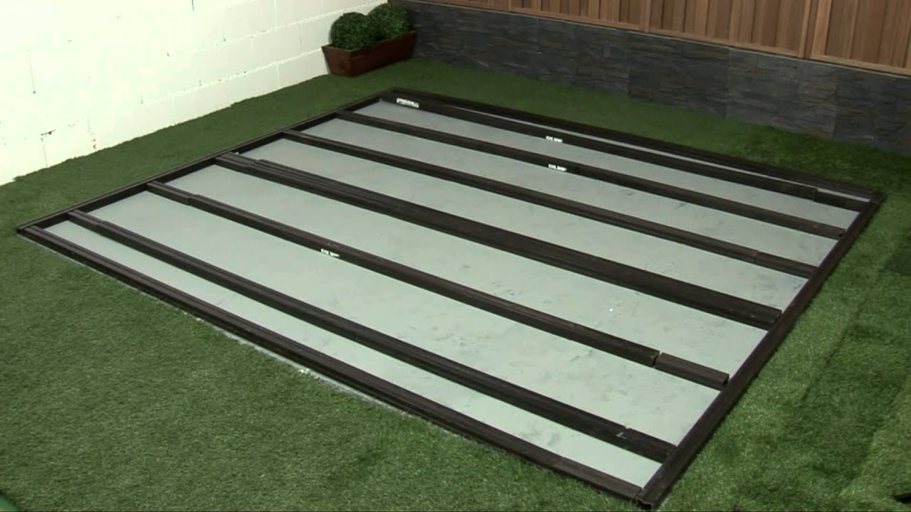C mo instalar un suelo de lamas de composite en tu jard n - Casetas para jardin leroy merlin ...