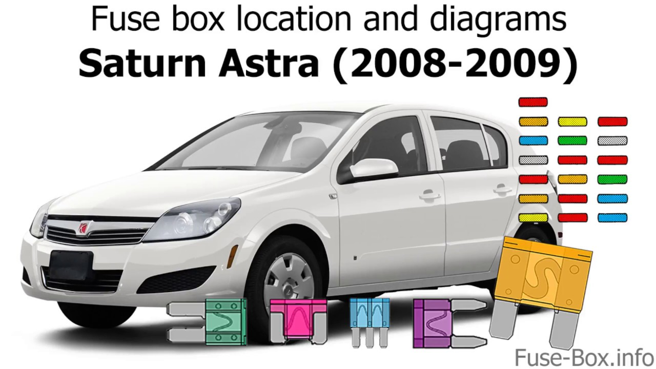 fuse box location and diagrams: saturn astra (2008-2009)