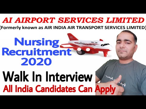 Airport Nursing Jobs In India || AI Airport Services Limited || Staff Nurse Vacancy 2020
