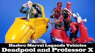 Marvel Legends Deadpool and Professor X Hover Chair Scooter Vehicles X-Men Action Figure Review