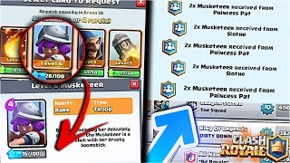 VISUAL GLITCH To REQUEST For DOUBLE CARDS!! NEW CLAN DONATION BUG In Clash Royale! [ReTrex]