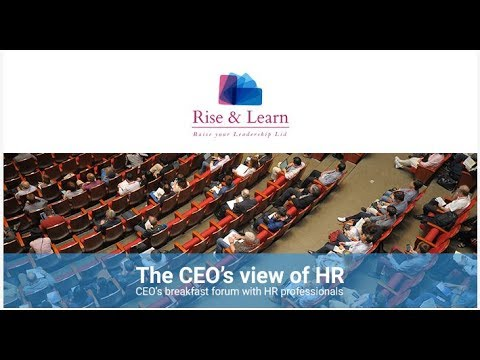 The CEO's view of HR Breakfast forum