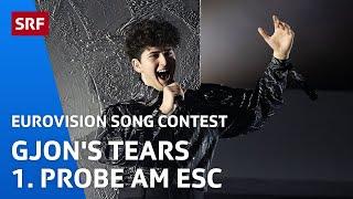 Gjon's Tears 1. Probe auf der ESC Bühne in Rotterdam   Eurovision 2021   SRF Musik