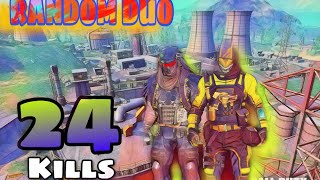 RANDOM DUO || 24 KILLS || COD MOBILE || GARENA || BATTLE ROYALE