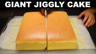 Jiggly cake - homemade giant Castella