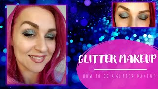 Easy glitter makeup tutorial for beginners Легкий видео урок по макияжу с блестками для начинающих