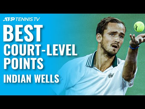 Best Court-Level Tennis Points From Indian Wells 2021!