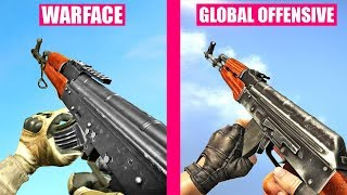 Counter-Strike Global Offensive Gun Sounds vs Warface