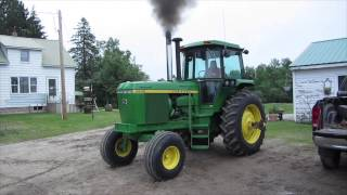 John Deere 4630 straight pipe cold start