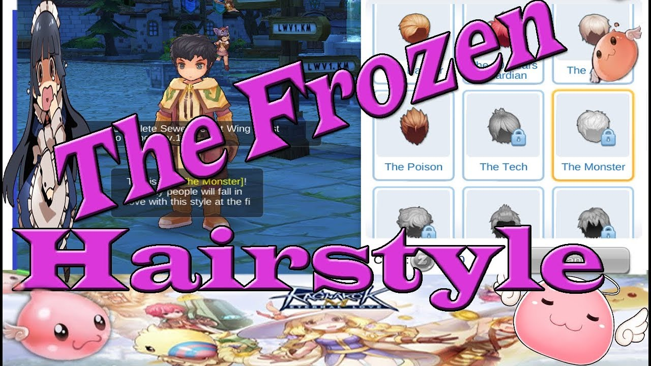 ragnarok eternal love the monster hairstyle guide sewers