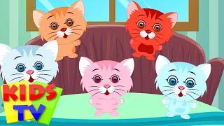 Five Little Kittens | English nursery rhymes for children | baby songs | Kids Tv Nursery Rhymes