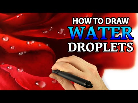 How To Draw Water Drops Digital Painting Tutorial Youtube