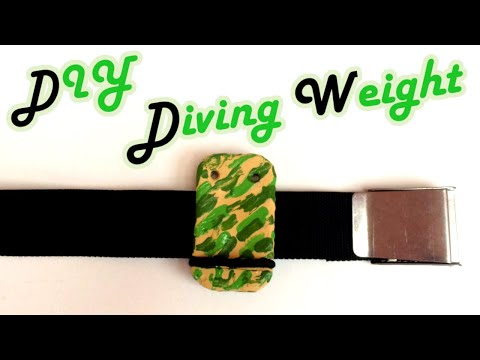 Tutorial - DIY - Melt Your Own Diving Weight - Quick Release Camouflage