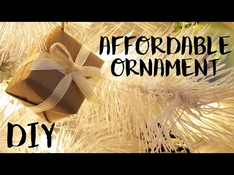 Affordable DIY Christmas Ornament | Small Gift Boxes