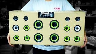 Build a Cardboard Speaker at Home