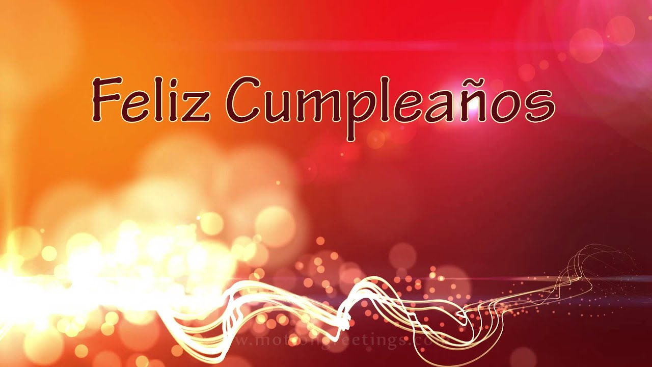 6e0fc0af0 Feliz Cumpleaños - Motion Graphics Background - Flying Lines and Bokeh