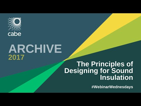 WEBINAR: The Principles of Designing for Sound Insulation in Dwellings