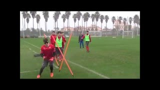 Soccer Goal Keeper Training with Visionup Strobe Glasses for Sport Vision