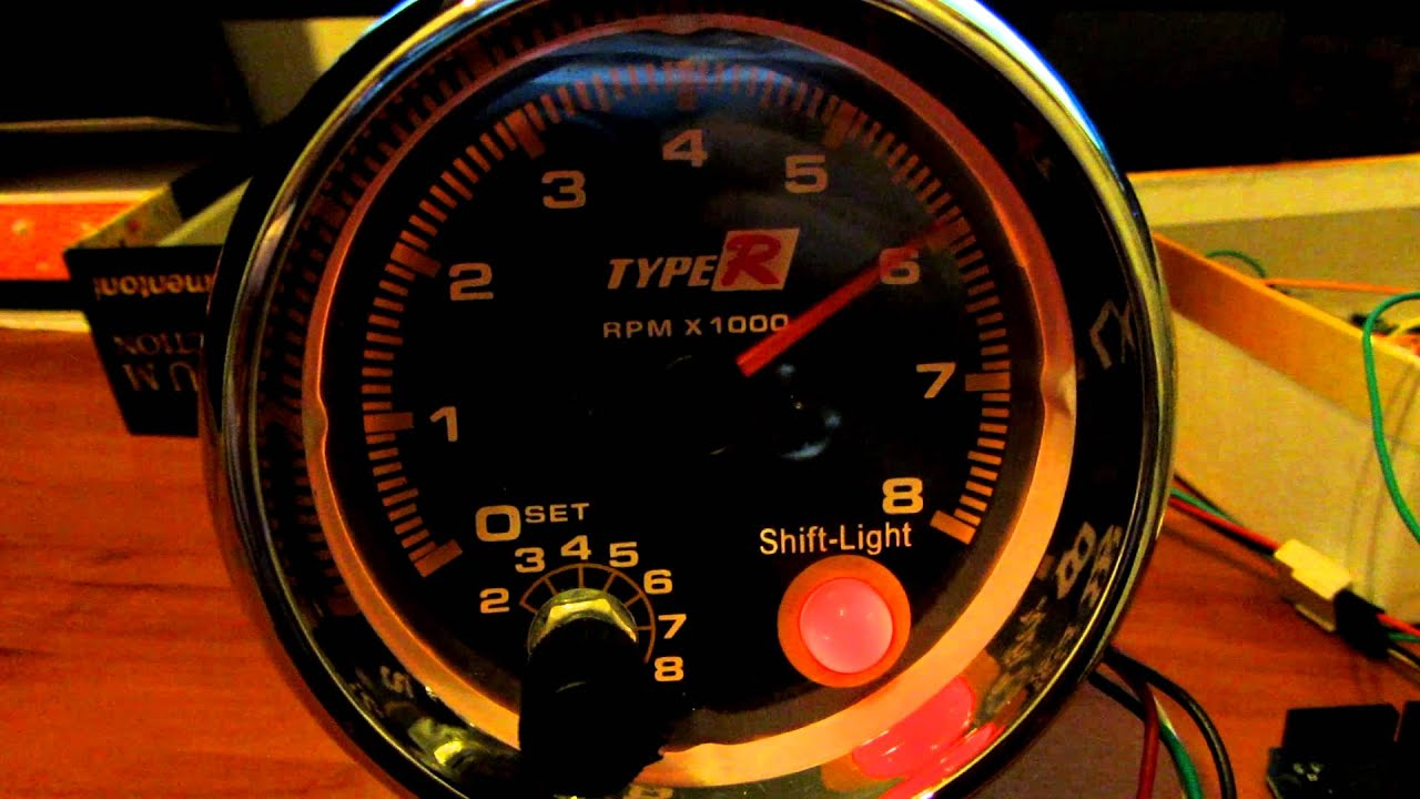 Honda cb550 arduino tachometer by Erik Beckstrom