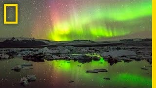 Repeat youtube video Stunning Time-Lapse Video: Elemental Iceland
