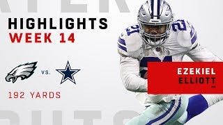 Ezekiel Elliott Explodes for 192 Total Yards vs. Eagles