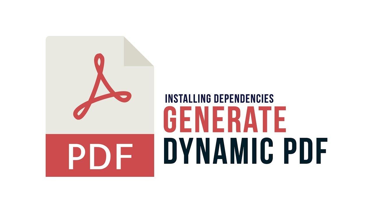 Generate Dynamic PDF in PHP : Installing Dependencies - Part 1
