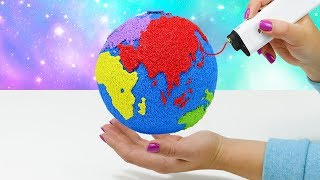 3D РУЧКА РИСУЮ  ГЛОБУС СВОИМИ РУКАМИ   ЛАЙФХАКИ ДЛЯ ХЕНДМЕЙДА 3D SIMO MINI