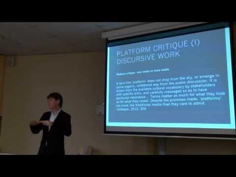 Lecture: platform studies, part 1