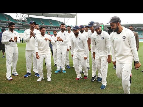 Team India celebrates historic win with The Bharat Army