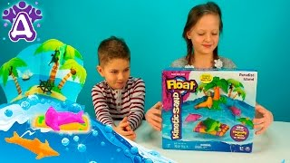 Играем и лепим морских зверушек из кинетического песка Kinetic Sand. Видео для детей.Video for kids.(Сегодня мы будем распаковывать и играть очень необычным песком - кинетическим - Kinetic Sand. Кинетический песок..., 2016-02-21T05:00:00.000Z)