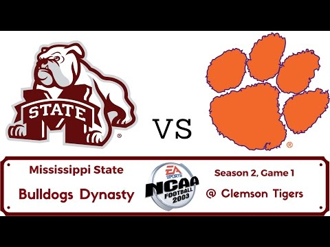 NCAA Football 2003 Mississippi State Dynasty - Year 2 - @ Clemson - Season Opener